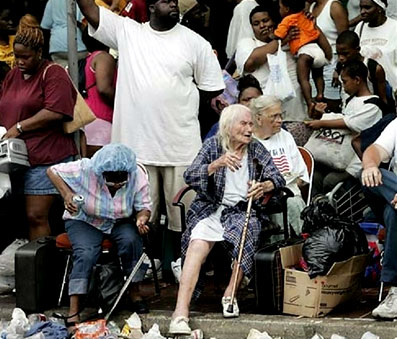 Hurricane Katrina survivors endure an interminable wait for help