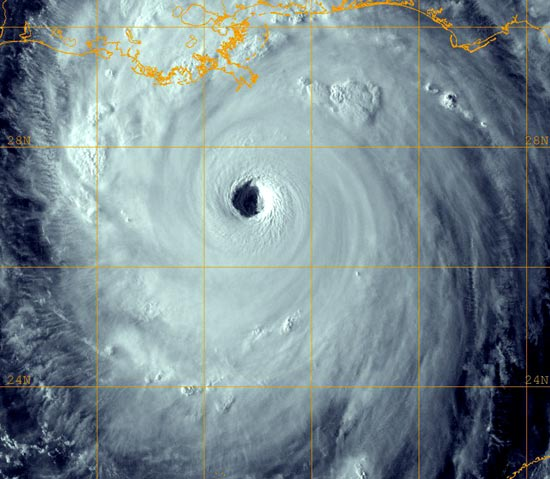 Hurricane Katrina as a category 5 hurricane